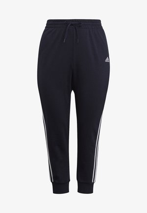 ADIDAS ESSENTIALS FRENCH TERRY 3-STRIPES PANTS (PLUS SIZE) - Trainingsbroek - legink/white