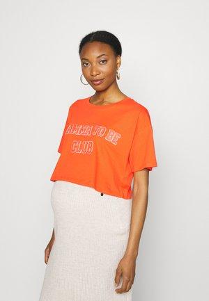 Print T-shirt - red bright