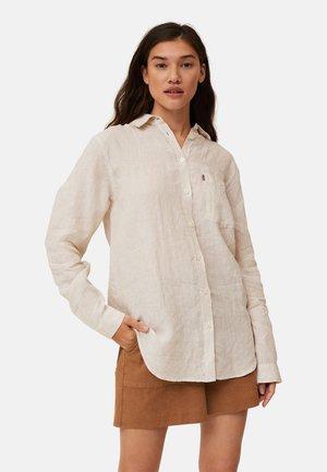 Skjortebluser - beige white stripe