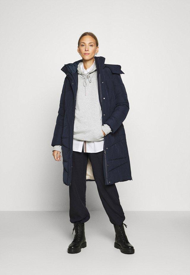 Winter coat - sky captain blue