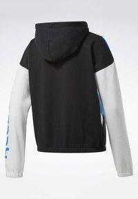 Reebok - TRAINING ESSENTIALS LOGO HOODIE - Zip-up hoodie - black - 8