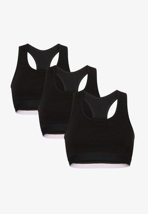 3 PACK - T-shirt bra - black