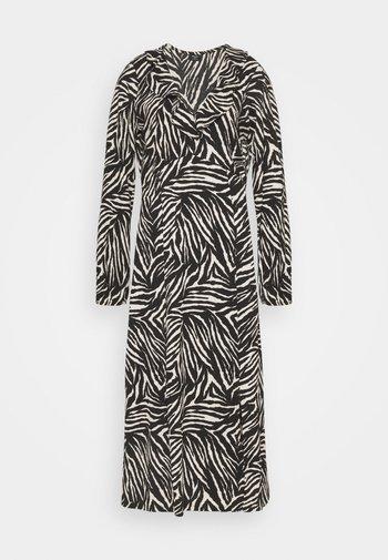 ZEBRA FINDLE MIDI DRESS - Maxi dress - black