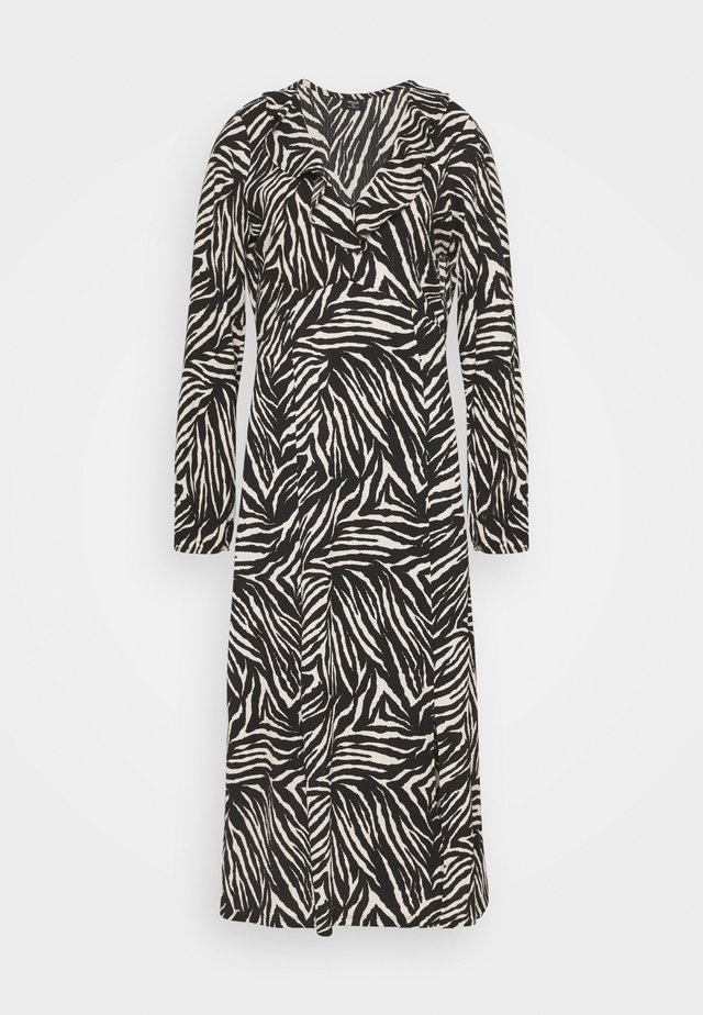 ZEBRA FINDLE MIDI DRESS - Maksimekko - black