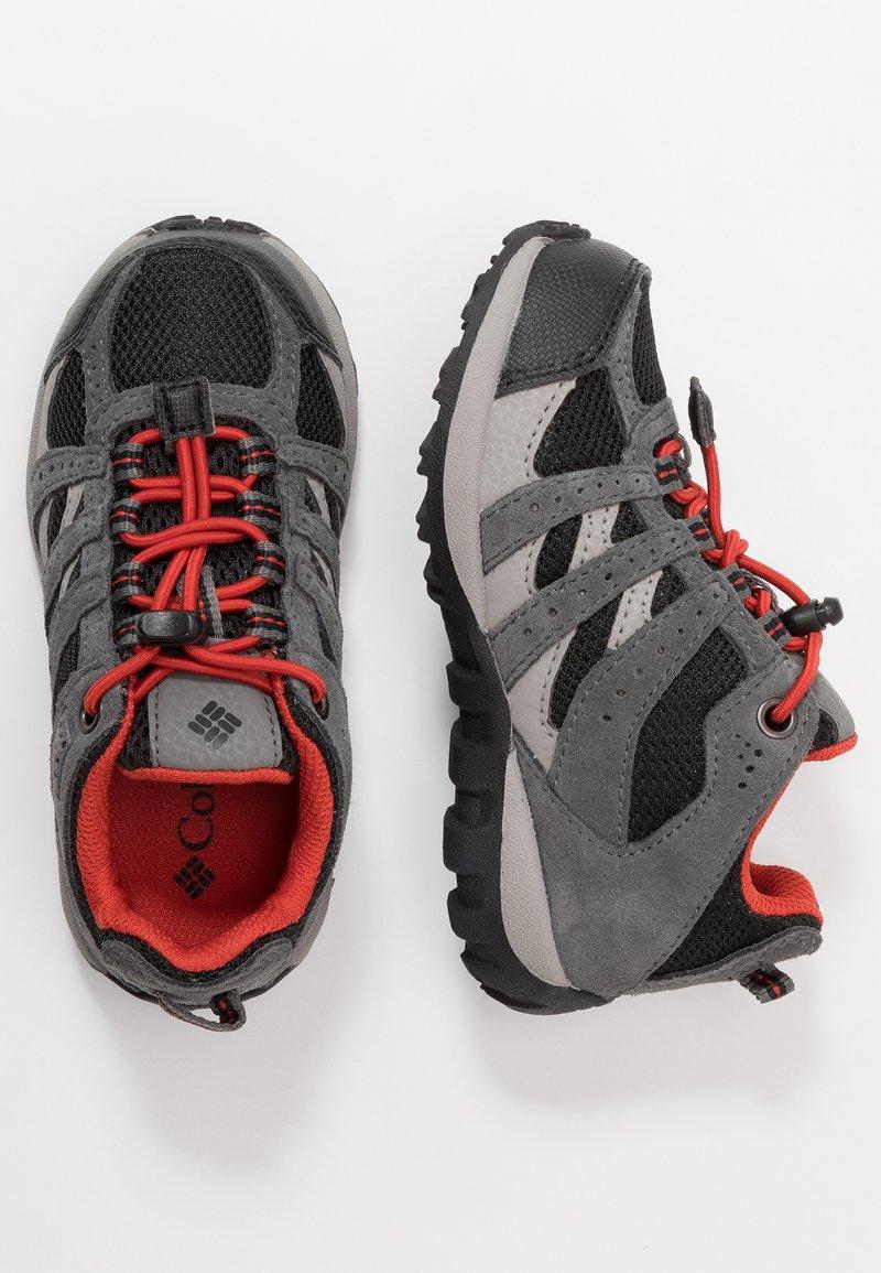 Columbia - CHILDRENS REDMOND WATERPROOF - Hiking shoes - black/flame