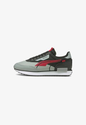 Sneakers laag - black-high risk red