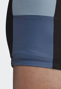 adidas Performance - FITNESS COLORBLOCK SWIM BOXER - Swimming trunks - black - 3