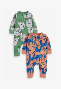 Next - 2 PACK GOTS KOALA SLOTH FOOTLESS - Jumpsuit - green - 0