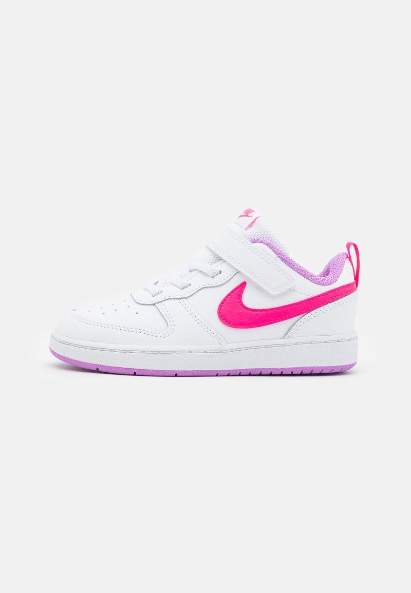 Nike Sportswear - COURT BOROUGH 2  - Zapatillas - white/hyper pink/fuchsia glow