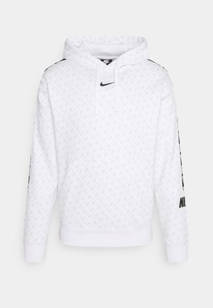 REPEAT HOOD - Sweatshirt - white/black