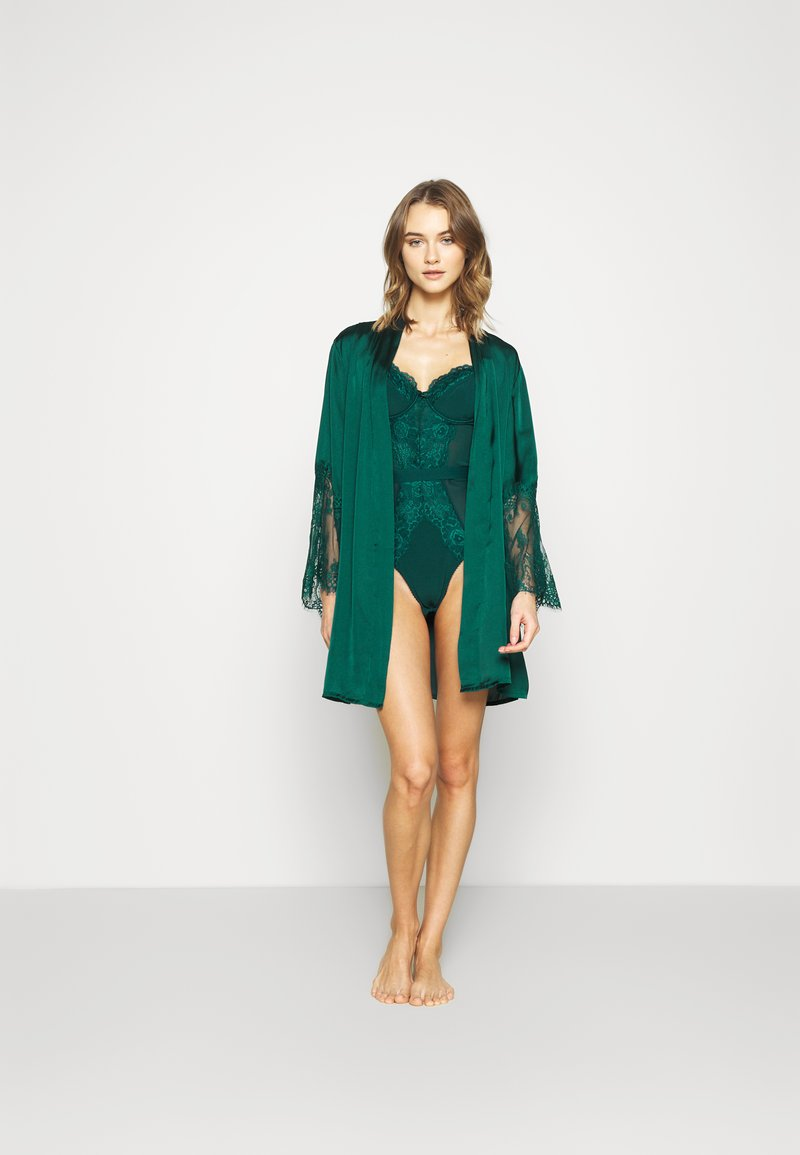 Hunkemöller - KIMONO - Dressing gown - atlantic deep