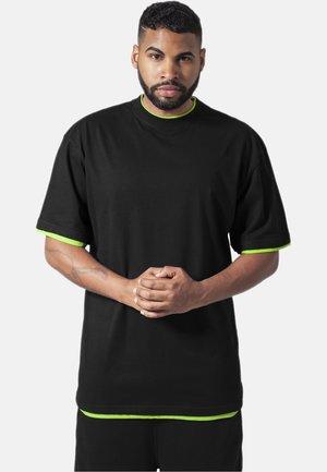 Basic T-shirt - black,green