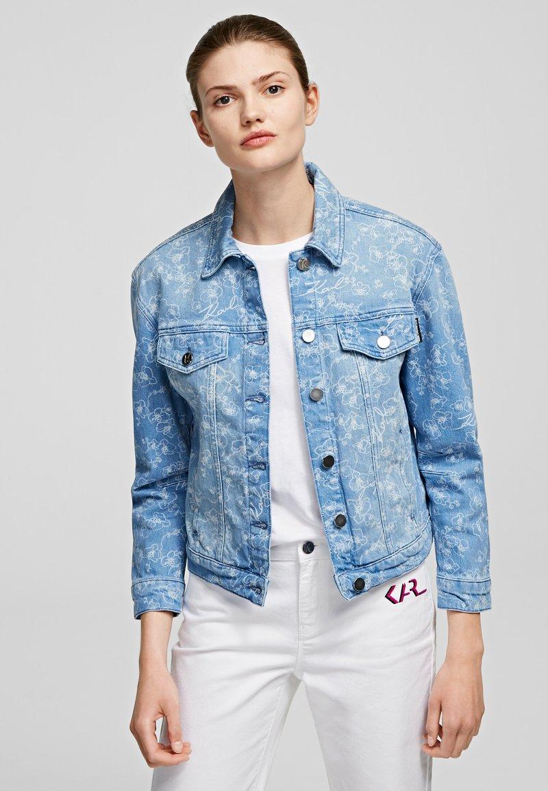 KARL LAGERFELD - Kurtka jeansowa - printed denim