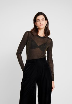 DINAH - T-shirt à manches longues - black/gold