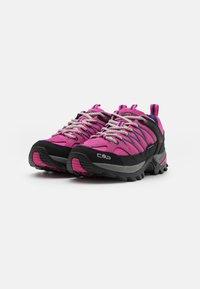CMP - RIGEL LOW TREKKING SHOE WP - Hiking shoes - malva/blue - 1
