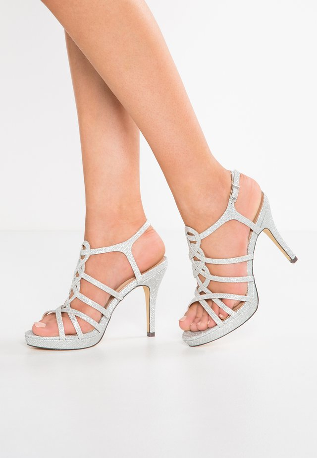 BEGONIA - High heeled sandals - plata