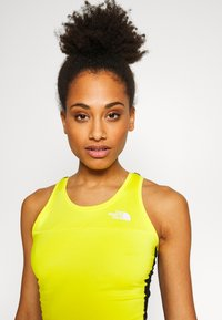 The North Face - WOMENS ACTIVE TRAIL TANKLETTE - Sports shirt - lemon/black - 3