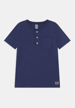 HENLEY - T-Shirt print - blue