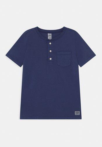 HENLEY - Print T-shirt - blue