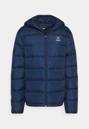 BIELD HOOD MEN - Down jacket - tarn blue