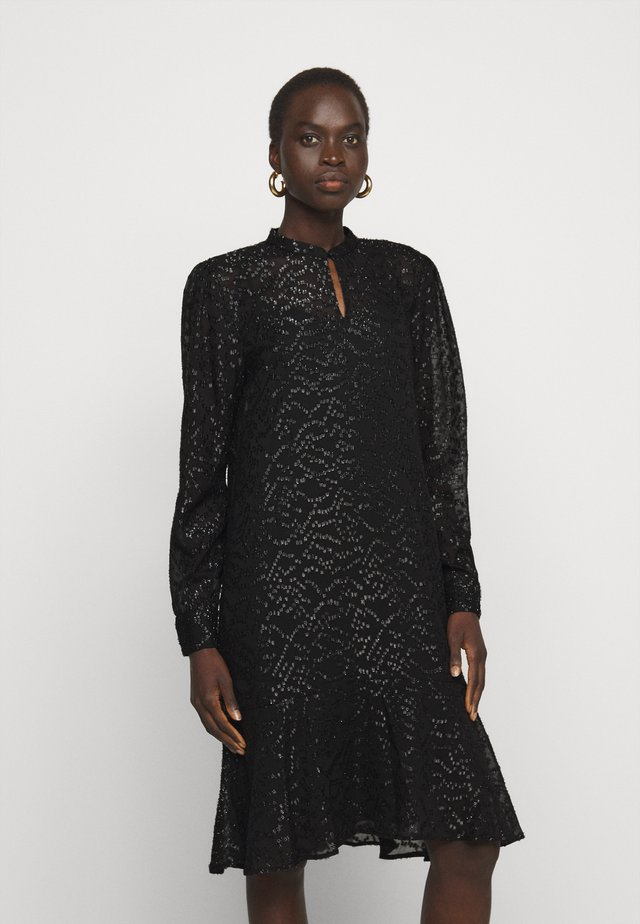 ALEXANDRIA CAMARI DRESS - Shirt dress - black