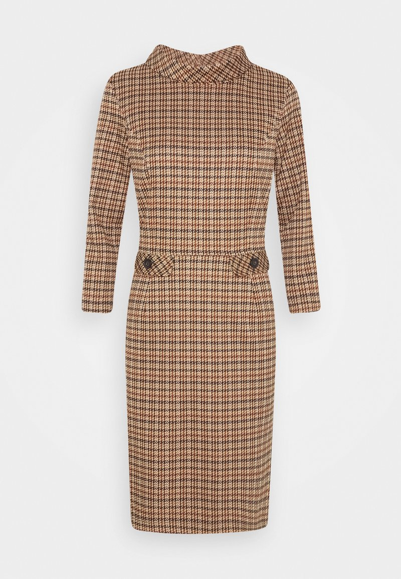 More & More - DRESS SHORT - Sukienka etui - soft caramel multicolor