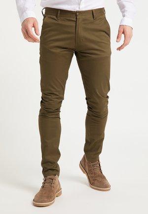 Chino kalhoty - oliv