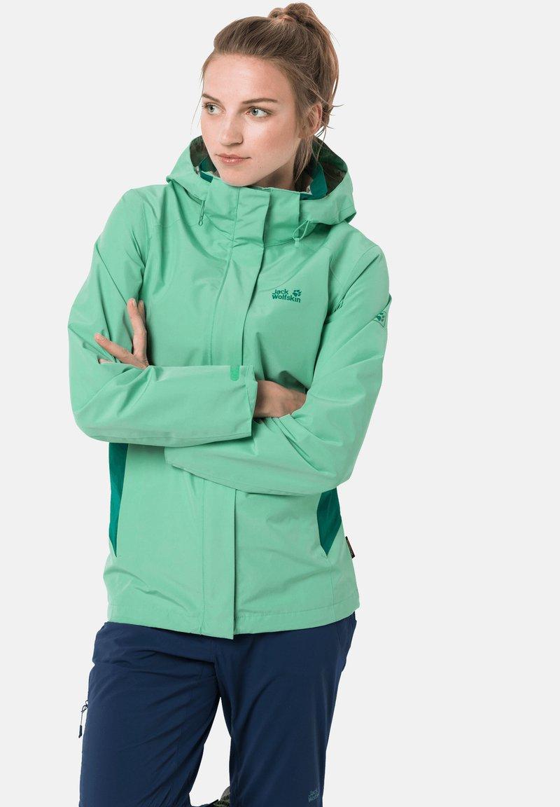 Jack Wolfskin - SAVOIA PEAK - Hardshell jacket - pacific green