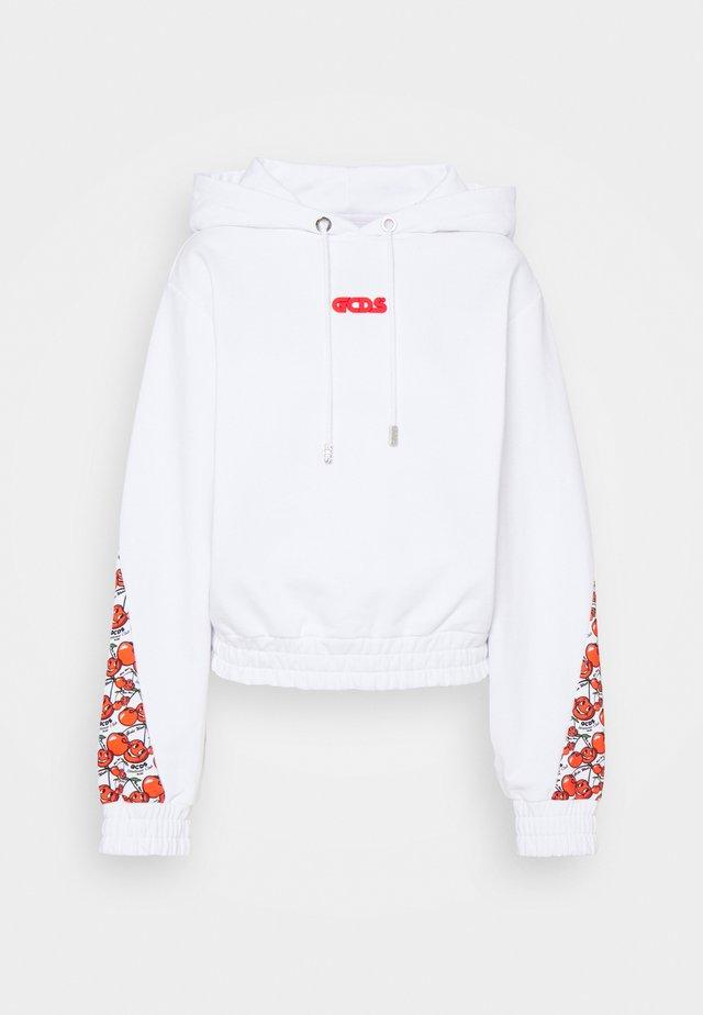 SPORTY HOODIE - Sweatshirt - white