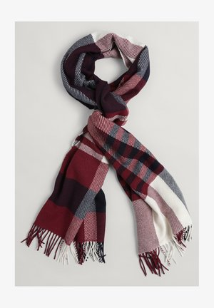BIG CHECK - Scarf - carbernet red