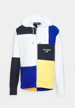TRAINING - veste en sweat zippée - white/multi