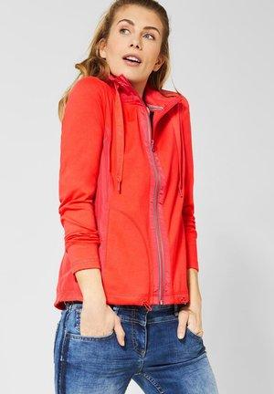 MIT MATERIALMIX - Zip-up hoodie - orange
