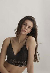 OYSHO - Triangle bra - black - 3