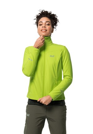 DELTA TOUR JKT W - Soft shell jacket - bright lime
