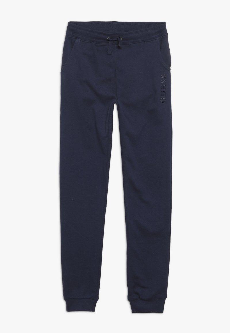 Guess - JUNIOR UNISEX ACTIVE PANTS - Tracksuit bottoms - deck blue