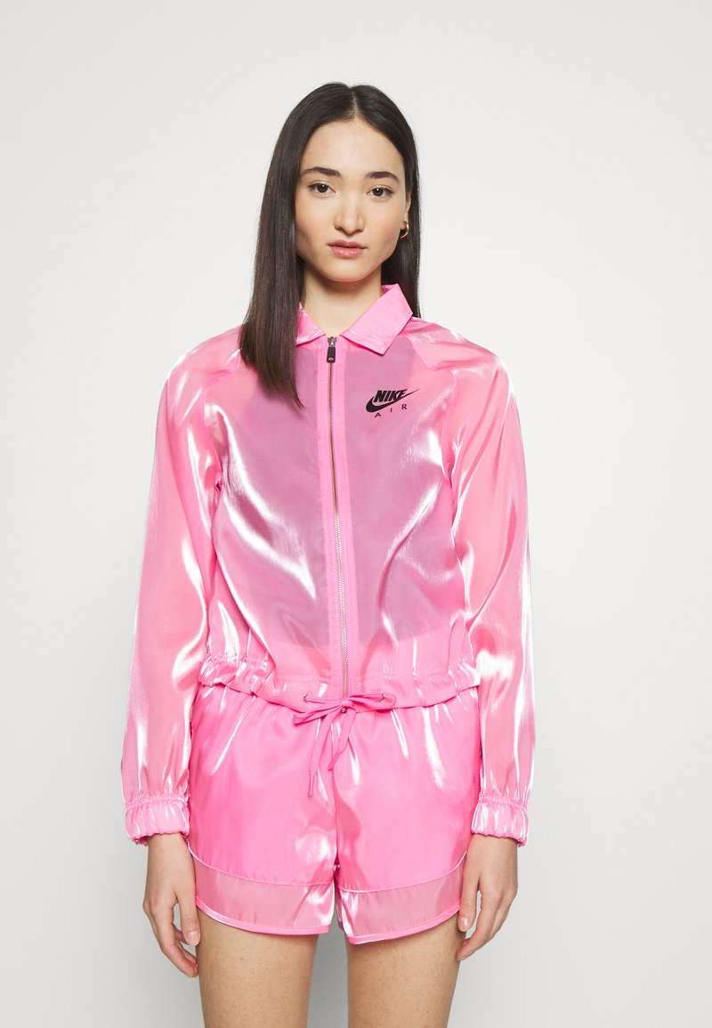 Nike Sportswear - AIR SHEEN - Summer jacket - pink glow/black