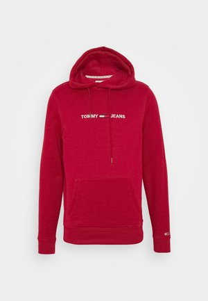STRAIGHT LOGO HOODIE - Mikina s kapucí - wine red