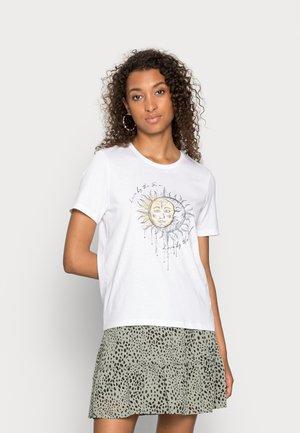 ONLMYSTIC LIFE BOX - Print T-shirt - bright white