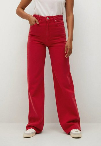 MIT HOHER TAILLE - Jean flare - rot
