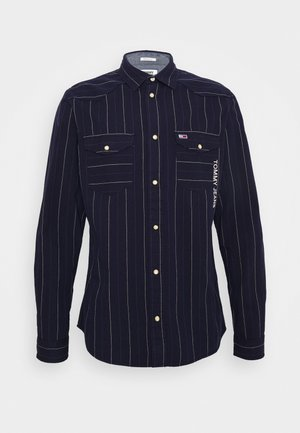 WESTERN STRIPE LOGO - Skjorter - twilight navy stripe