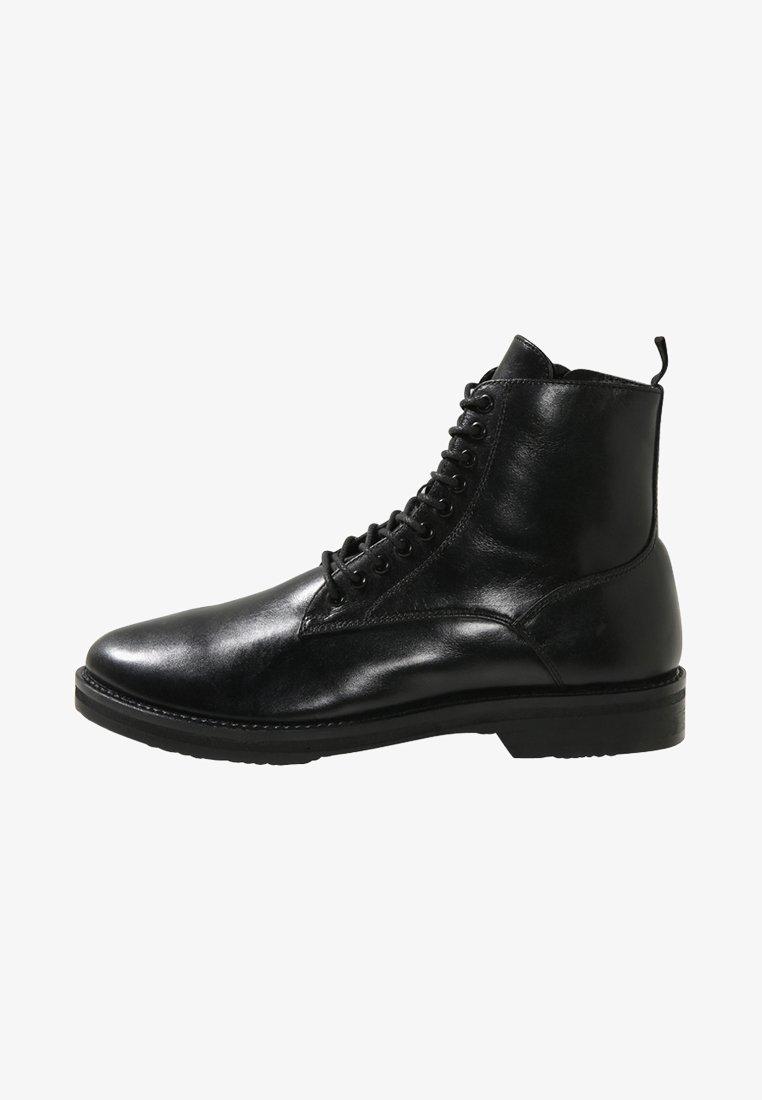 Walk London - JAZZ LACE UP BOOT - Šněrovací kotníkové boty - black