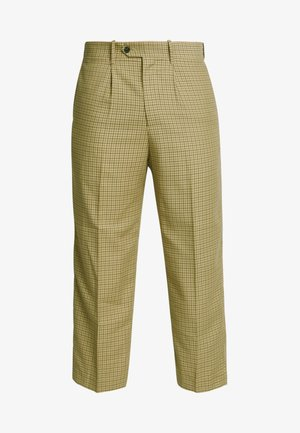 COLIN CHECKED TROUSERS - Trousers - beige