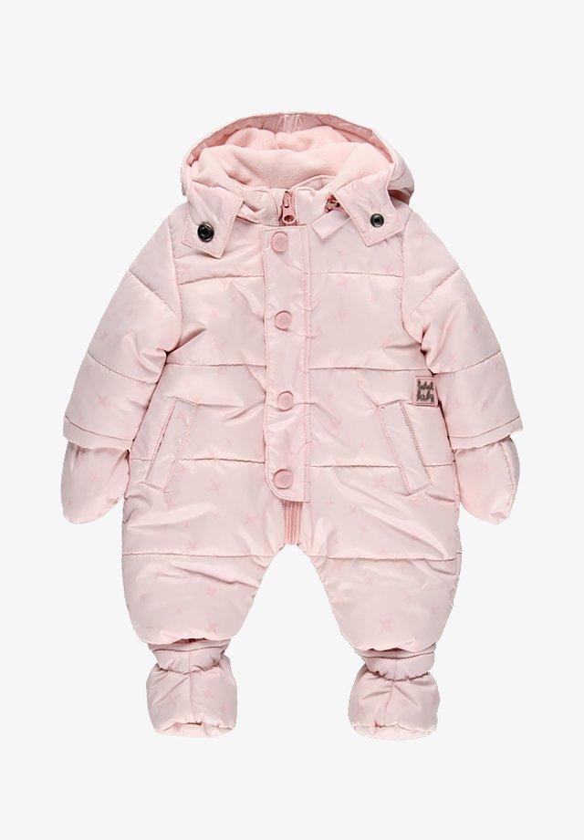 SCHNEE KOMBI TECHNISCHES STOFF STERNE FÜR BABY - Combinaison de ski - light pink