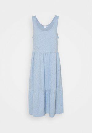 TIERED MIDI DRSS - Jersey dress - bleach blue
