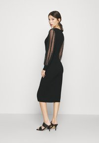 WAL G. - ROSE LONG SLEEVE MIDI DRESS - Shift dress - black - 2