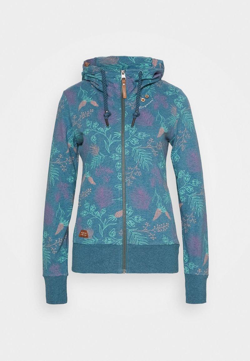 Ragwear - PAYA FLOWERS - Cardigan - blue