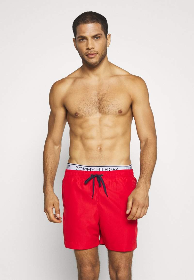 Tommy Hilfiger - MEDIUM DRAWSTRING - Swimming shorts - red