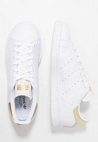 adidas Originals - STAN SMITH - Sneaker low - footwear white/gold metallic - 3