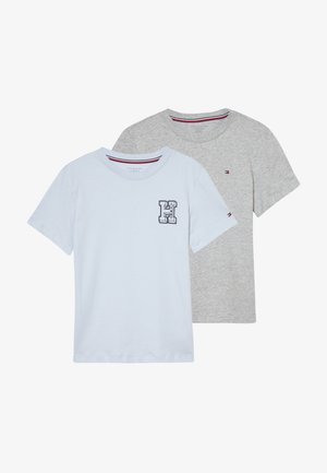 TEE LOGO 2 PACK - Print T-shirt - grey