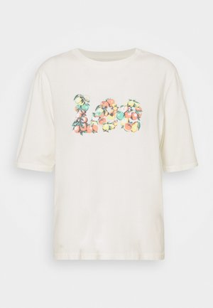 GRAPHIC TEE - T-shirt med print - ecru